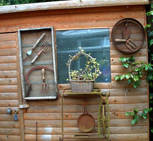 Useful designs for tool sheds neks Home decorating ideas using junk